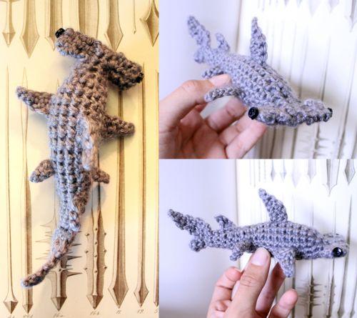 crochet, hammerhead shark