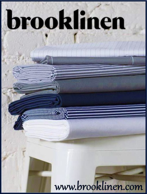 """www.BrookLinen.com.    The best small biz linen deal you could find. Started through the """"fund me"""" program, and keeps costs low by selling directly to customers online.    Check them out at www.BrookLinen.com"""