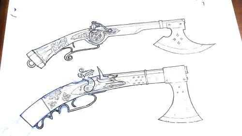 Flintlock pistol concept art