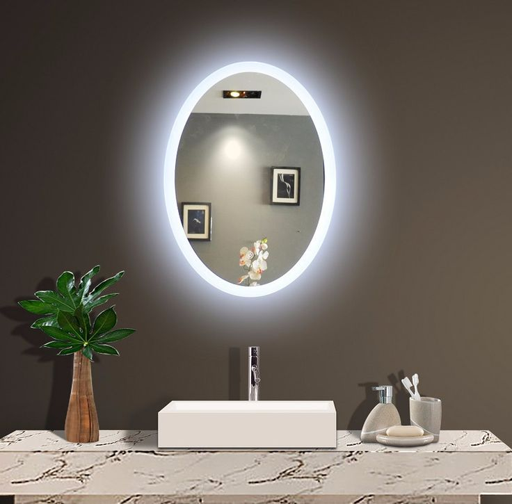 BACKLIT MIRROR OVAL 20 X 28 In
