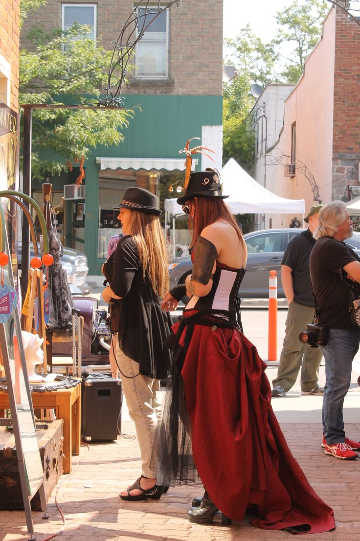 Fabulous alleyways in the Victorian town of Coldwater, Ontario and gorgeous gowns