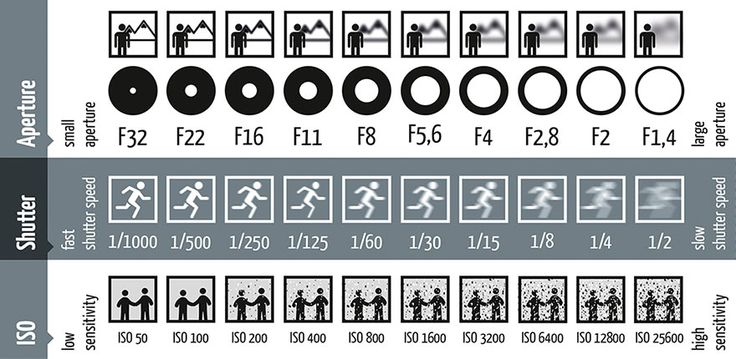 Take a look at this chart, it illustrates how each part of the exposure effects the image, including blur, depth of field and noise.