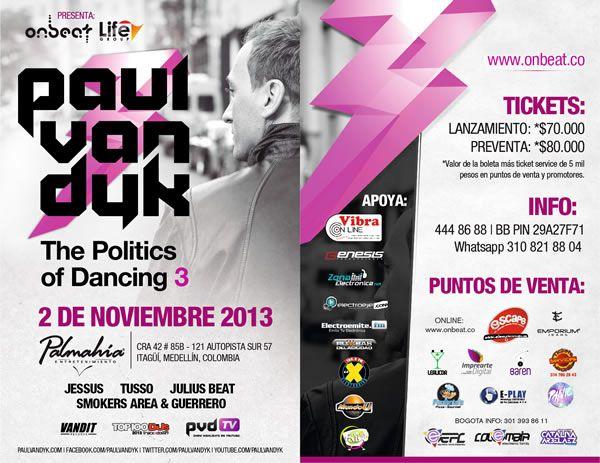 Paul Van Dyk en Medellín, el Dj se presentará el próximo 2 de noviembre 2013 en Palmahia