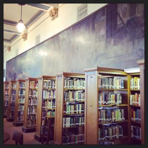 Library At Hibbing High School, Hibbing MNu003e (This Mural Covers The Entire  Wall. U201c