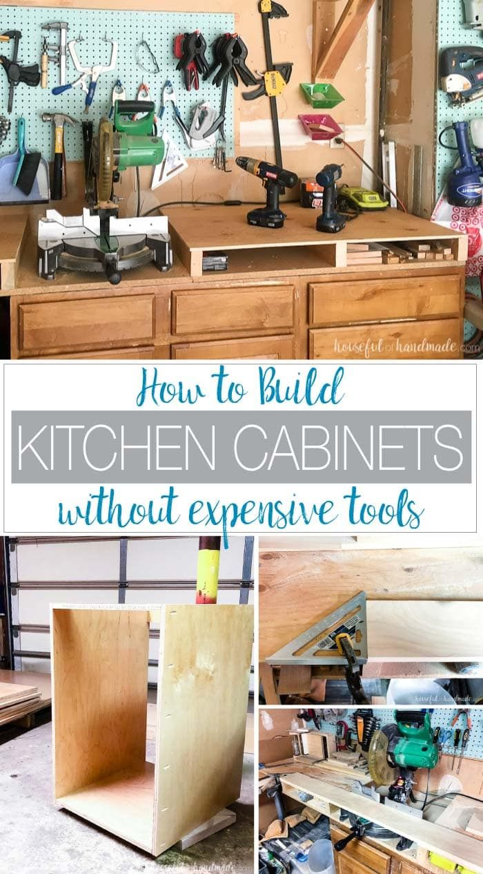Build Your Own Cabinets Without Expensive Tools Building Kitchen Cabinets Beautiful Kitchen Cabinets Diy Kitchen Cabinets