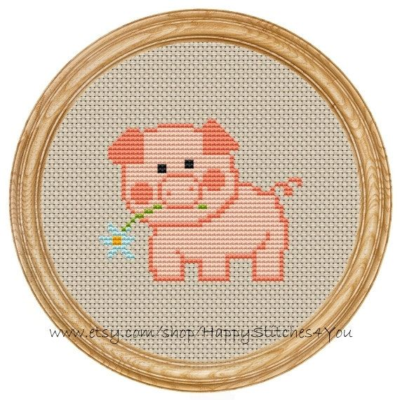 Cross Stitch Pattern PDF pig DD0002 by HappyStitches4You on Etsy