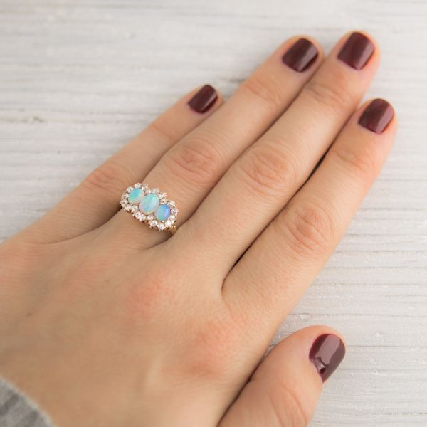 Antique Victorian Gold Opal Engagement Ring
