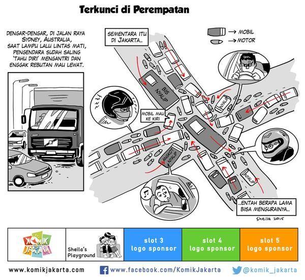 Terkunci di Perempatan by @sheilaro2105 #KomikJakarta @mice_cartoon http://t.co/6AEAPiQVE9