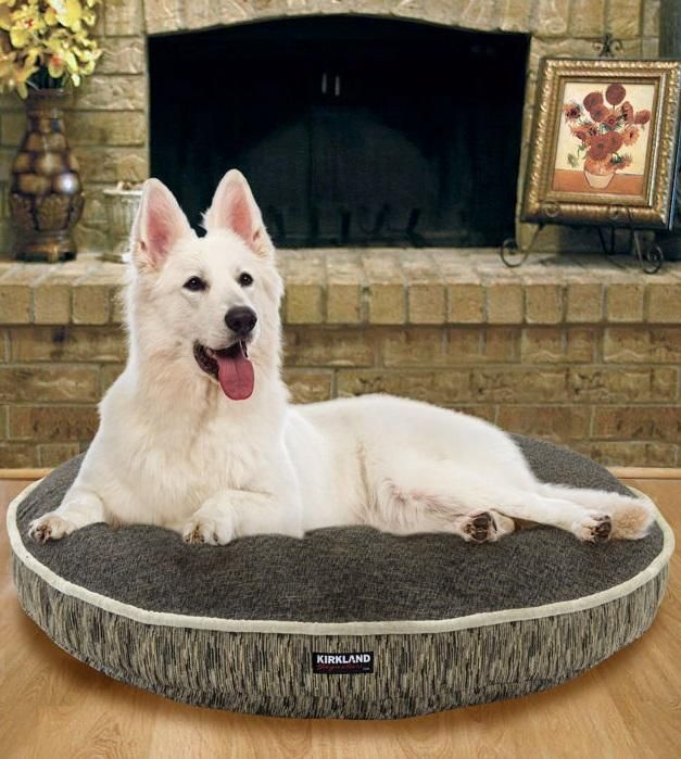 your pet will sleep soundly in this kirkland signature luxury pet bed the plush