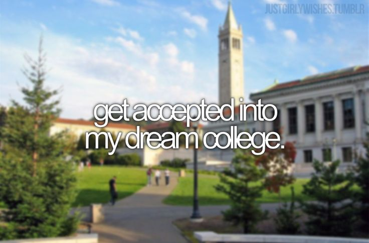 I didn't bother applying to my dream college bc even if I got in I wouldn't be able to afford to go.