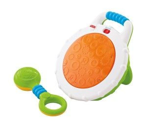Fisher Price Toys 6-12 Months: Fisher-Price Jammin' Beats Drum Set Introduce baby to music, he will just hit it at first but as he grows older he will learn to press or tap the drum.  http://awsomegadgetsandtoysforgirlsandboys.com/fisher-price-toys-6-12-months/ Fisher Price Toys 6-12 Months: Fisher-Price Jammin' Beats Drum Set