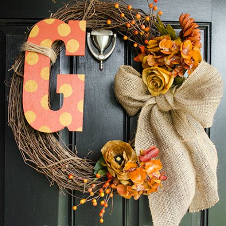 Fall Wreath Mania. But this one is really cute!