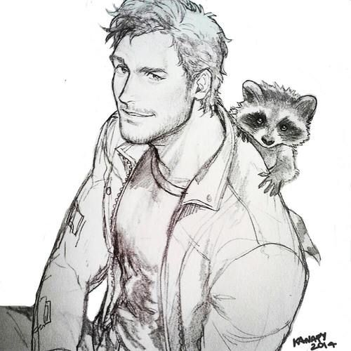 Guardians of the Galaxy Fan Art Sketch / Drawing - #guardiansofthegalaxy #marvelcinematicuniverse #kurttasche
