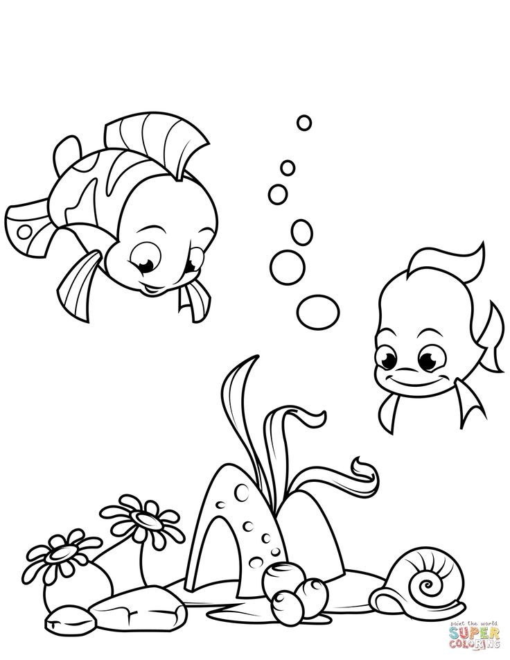 How to Draw Fish Coloring Printable and Online | Coloring Pages for ...