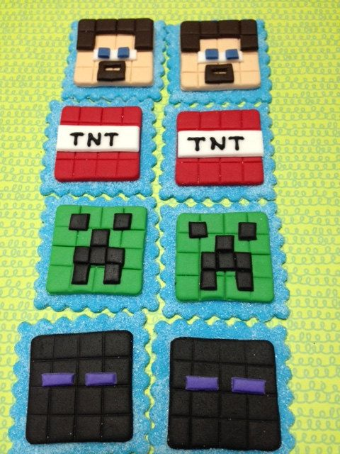 Minecraft  Cupcake Toppers by Eirascustomcakery on Etsy