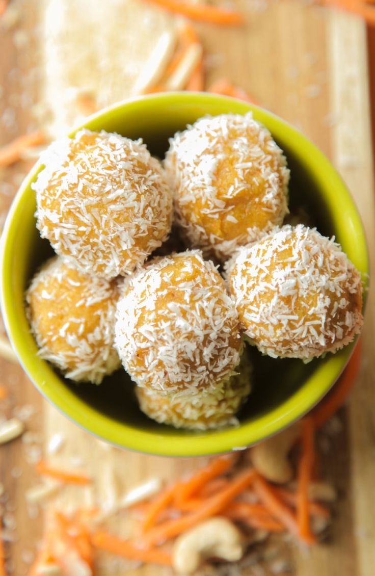 Coconut Carrot Bites (Vegan + Gluten Free)