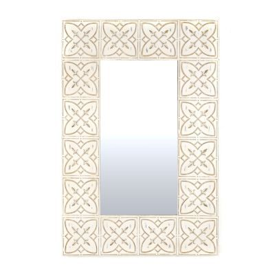 Let this mirror give your home a touch of the Emerald Isle. This Celtic Charm Distressed White Framed Mirror is the perfect way to add soft, subtle style to any room. #kirklands #SweetSimplicity