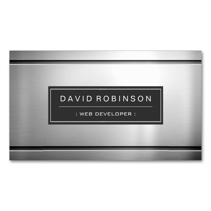 2221 best Silver Metallic Business Card Templates images on Pinterest