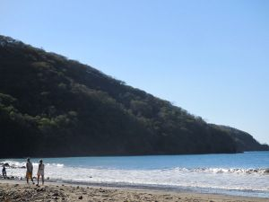 The left hand side of playa hermosa