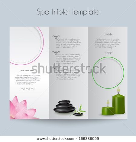 Beauty spa & salon tri-fold mock up & template for brochure, card etc - stock vector