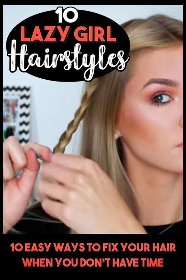10 Easy Lazy Girl Hairstyle Ideas Step By Step Video Tutorials For Lazy Day Running Late Quick Hairstyles Clever Diy Ideas Lazy Girl Hairstyles Easy Mom Hairstyles Easy Work Hairstyles