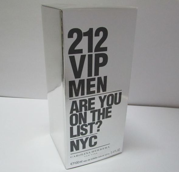 CAROLINA HERRERA 212 VIP MEN EDT SPRAY 100ML (3.4OZ) - MEN