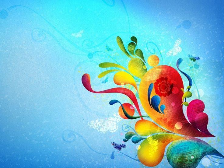 dibujos de flores en colores pastel en fondo azul  Buscar con