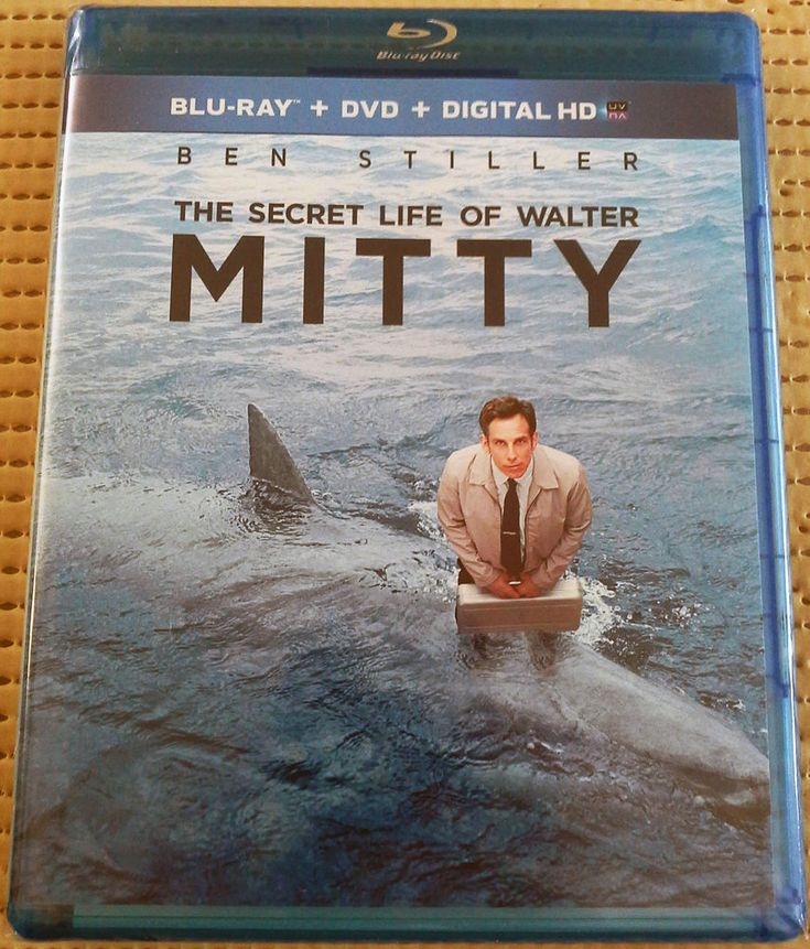 THE SECRET LIFE OF WALTER MITTY 2014 BLU-RAY + DVD BEN STILLER NEW 15% OFF 2+