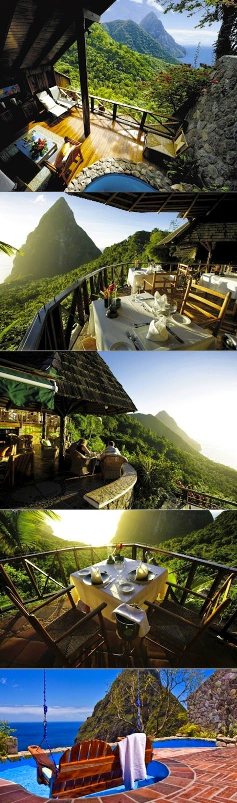 St. Lucia Ladera Resort - I'm pinning this in the Stellar Ideas because I HAVE to remember to go here!
