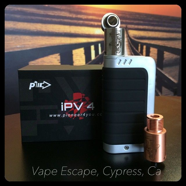 Just landed, the #IPV4 box mod! Match it up with an authentic #MadHatter drip atty. #socalvapeescape | #vapeescape | #instalike | #cypress | #improof | #webstagram | #vapestagram | #stopsmokingstartvaping | #instavape | #smokefree | #vapefam | #vapeshop VAPE ESCAPE 5363 Lincoln Ave. Cypress, Ca 90630 714.484.8273 www.SoCalVapeEscape.com www.ECigShopCypressCa.com