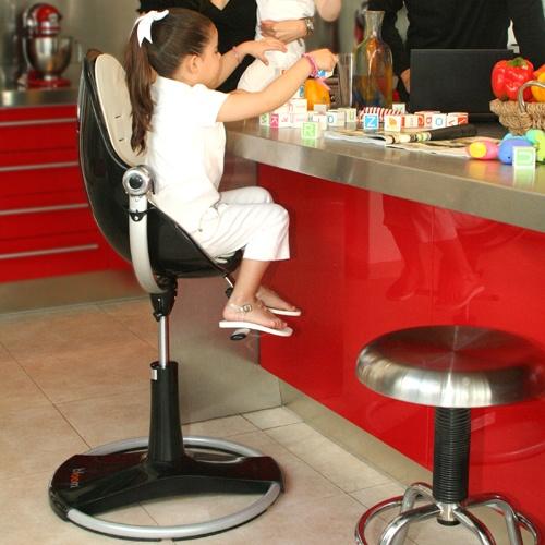 Bloom fresco loft ebony contemporary baby chair in choice for Chaise haute fresco loft bloom