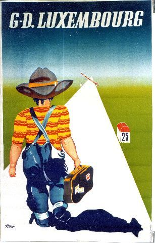 Hoss G. D. Luxembourg - circa 1950 Luxembourg vintage poster