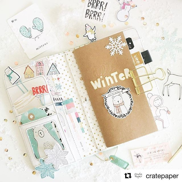 Featuring Websters Pages Travelers Notebook and Crate Paper Snow and Cocoa Collection - available at www.saffytenten.com!  #cratepaper #websterspages #travelersnotebookph #travelersnotebook #plannerph #journalingph #scrapbookph #stationeryph #craftstoreph #saffytenten