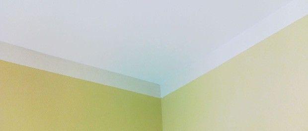 Decke streichen d i y heimwerken renovieren decke for Streichen mit schwamm