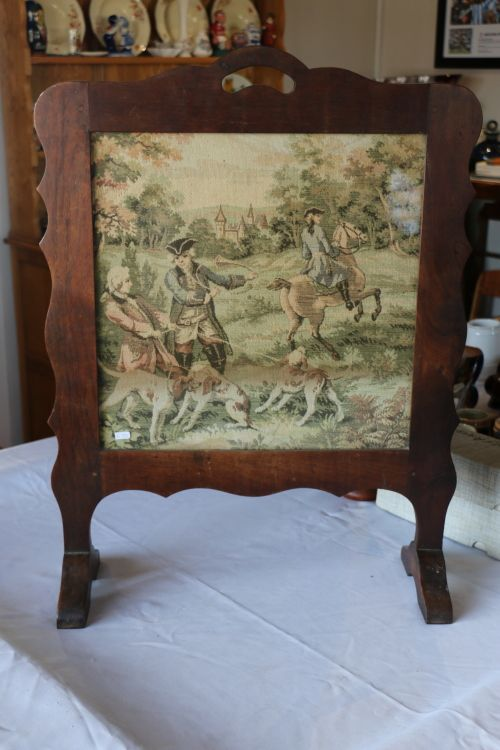 Buy Antique Imbuia Screen with Embroidered Centerfor R555.00