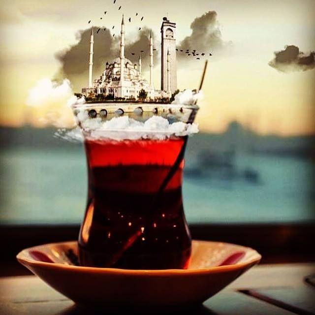 """""""Derdimize dermandır, bir bardak çay Ve okunan ezânın sesi..."""" #HayırlıSabahlar ..."""