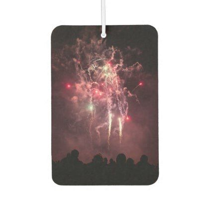 Pink Fireworks Display Photography Car Air Freshener - photography gifts diy custom unique special