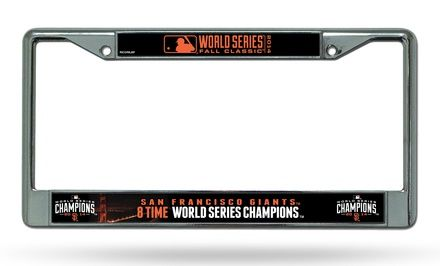 San Francisco Giants 2014 World Series Champions License-Plate Frame  $11.99 (40% off)  Exp: Nov/12/2014 from Groupon.