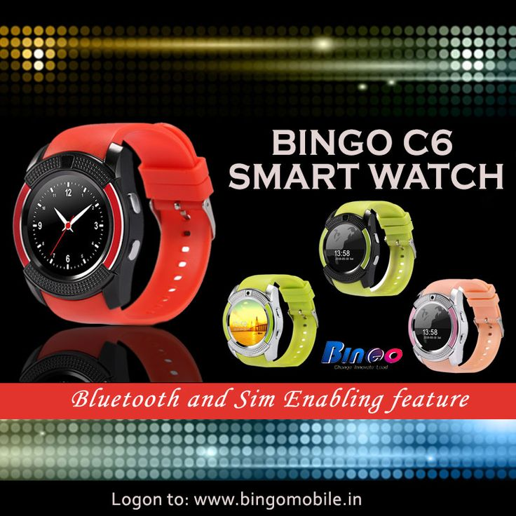#Bingo #C6 Fashionable and Trendy Smartwatches which gives an attractive and catchy looks to your hand. For more information, Visit:http://amzn.to/2c5svJK