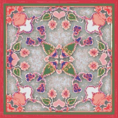 Free Japanese Cross Stitch Patterns | Cross Stitch Patterns – Art Nouveau – Art Nouveau Swirly Floral ...