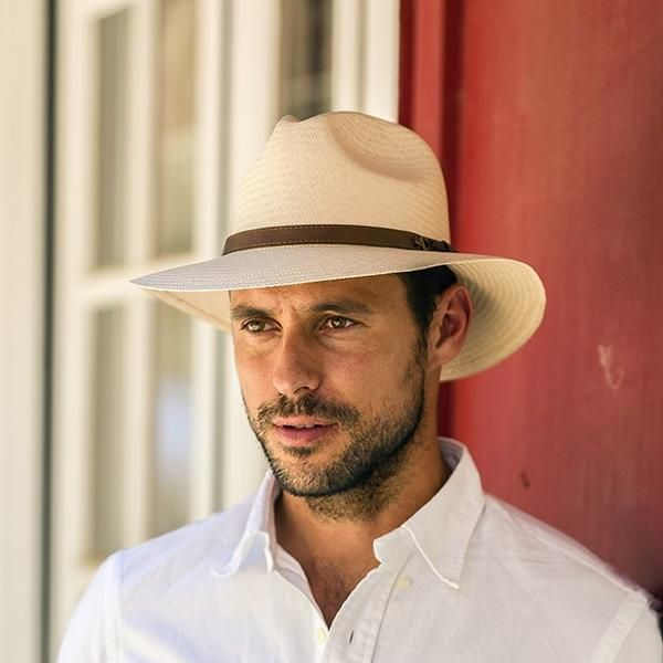 1 Austral Brown Straw Panama Hat The Kai With Brown Ribbon Band Hats For Men Mens Hats Fashion Straw Panama Hat