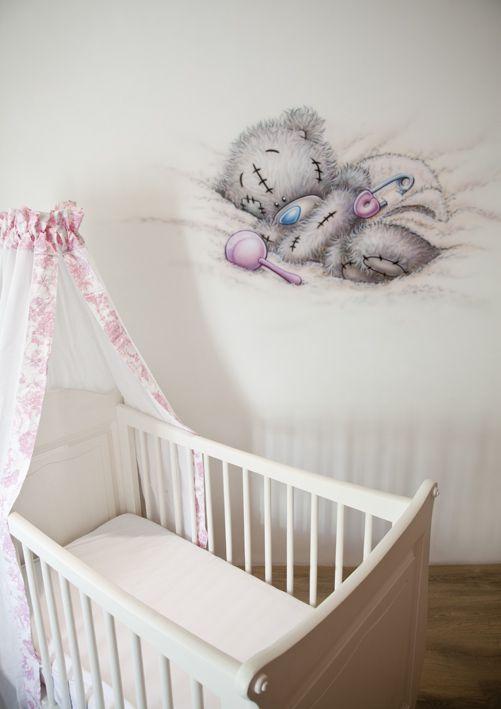R Brush Muurschildering In De Babykamer Van Een Me To You