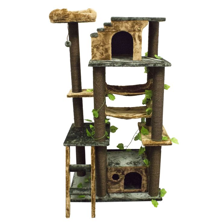 Kitty Mansions Mini-Amazon Green Cat Tree Furniture | Overstock.com Shopping – The Best De ...