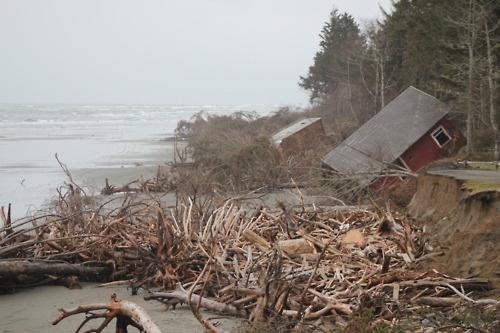 Wash Away Beach. Westport, Washington