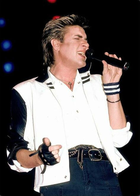 Simon LeBon - lead singer for Birmingham, England's new romantic superstars, Duran Duran. The band rose quickly in the early eighties through highly visual MTV videos.