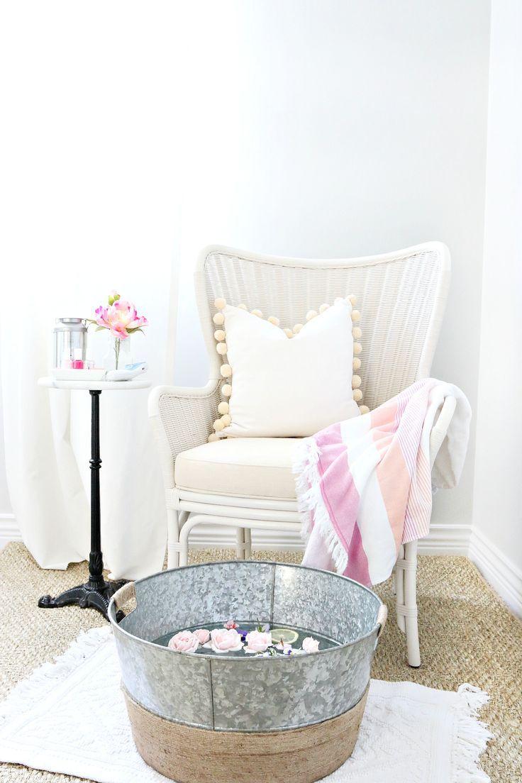 Our Inspiration: A luxurious home pedicure. Image via Bloglovin' @ Filomena Spa Pinterest #Lifestyle #Wellness #FilomenaSpa