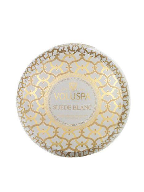 Suede Blanc 2 - Wick Metallo - Voluspa - Vit - Beauty @ Home - Skönhet - Kvinna - Nelly.com