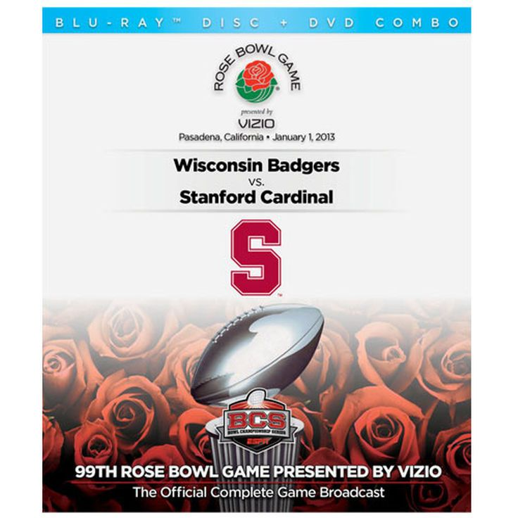 Stanford Cardinal 2013 Rose Bowl Champions DVD/Blu-ray Combo Pack - $12.99