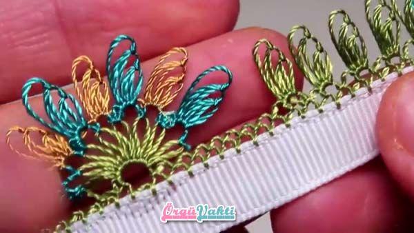 İğne Oyası Güzel Çiçekler Modeli Yapımı Türkçe Anlatımlı Videolu