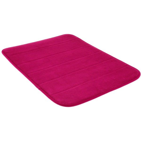 Dreamkingdom Soft Collection Memory Foam Bath Mat, 17 By 24-inch, Hot... ($8.99) ❤ liked on Polyvore featuring home, bed & bath, bath, bath rugs, memory foam bath rug, memory foam bath mat, memory foam bathroom mats, hot pink bath rug and hot pink bathroom rugs